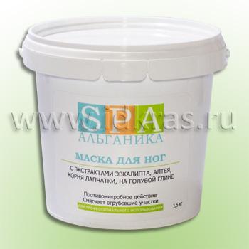 Маска-паста для ног антимикробная (с экстрактами эвкалипта, алтея, корня лапчатки)