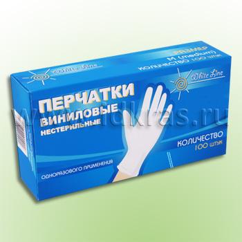 Перчатки виниловые н/с