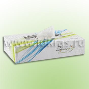 Салфетки косметические бумажные в коробках