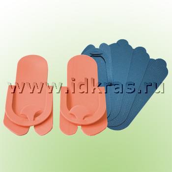Тапочки пенополиэтилен 3 мм (вьетнамки) белые / голубые